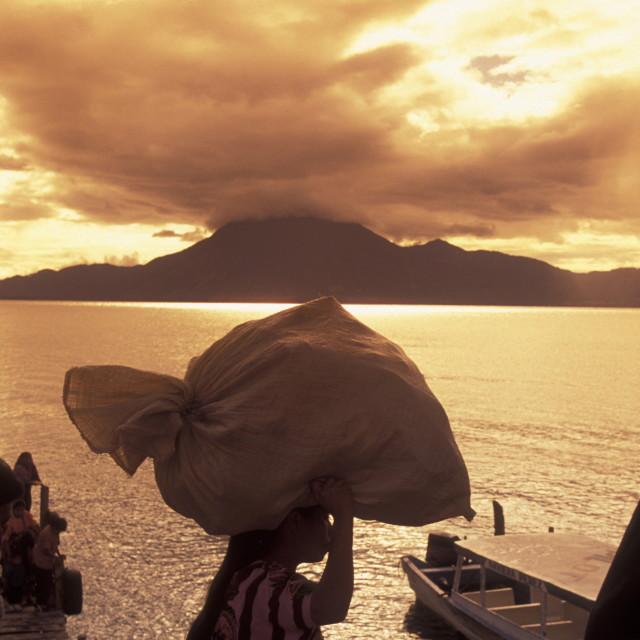 """LATIN AMERICA GUATEMALA LAKE ATITLAN"" stock image"