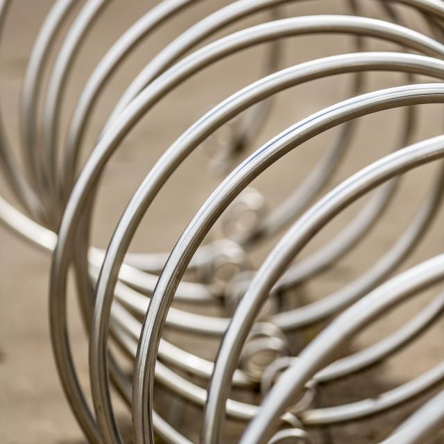 """""""Bike rack in Prague"""" stock image"""
