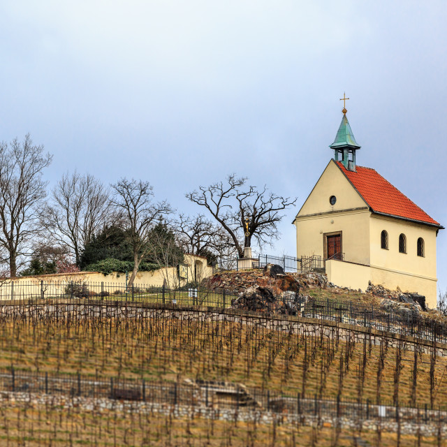"""Chapel on the hill, Prague"" stock image"