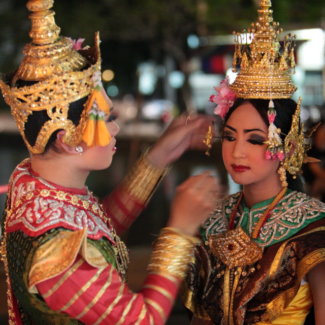"""ASIA THAILAND CHIANG MAI THAI DANCE"" stock image"