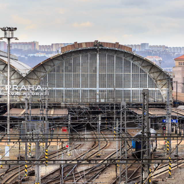 """Main railway station, Prague"" stock image"