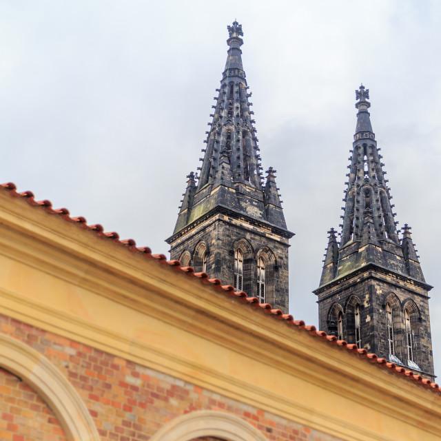 """Church at Vysehrad, Prague"" stock image"