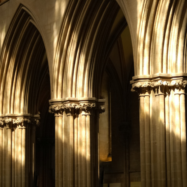"""cathedral arches"" stock image"