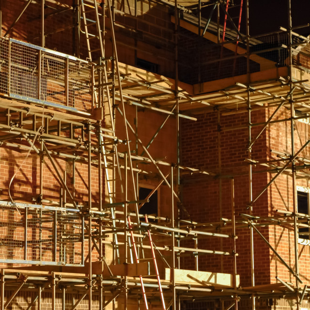 """""""building scaffold"""" stock image"""