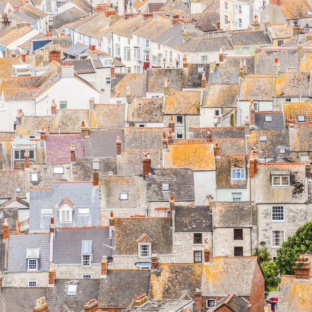 """aerial rooftops"" stock image"