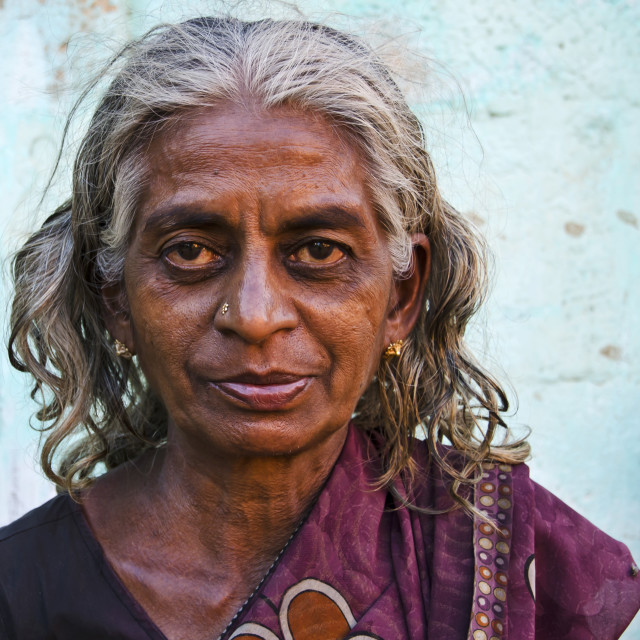 """KUMBAKONAM WOMAN"" stock image"