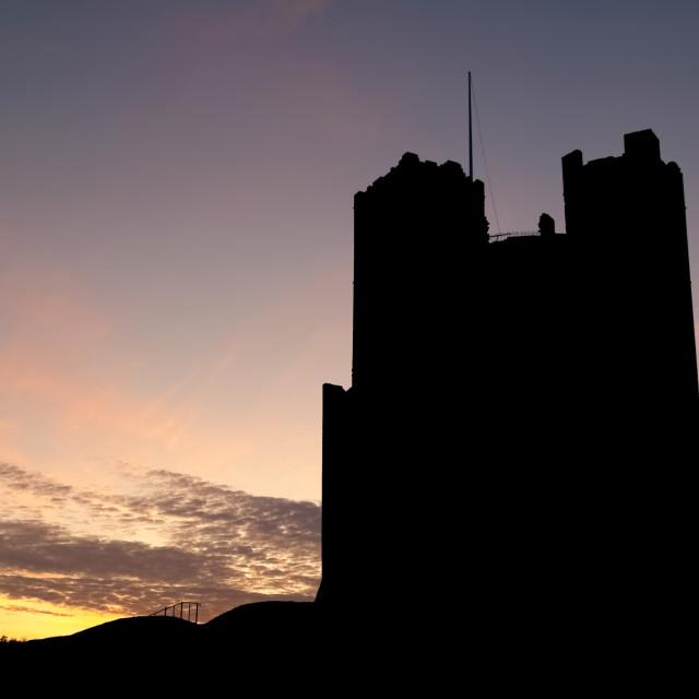 """castle silhouette"" stock image"