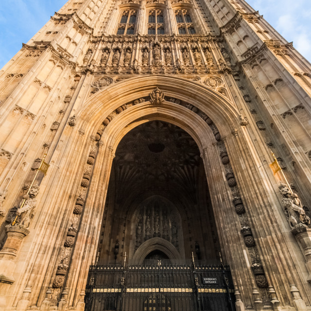 """victoria tower entrance"" stock image"