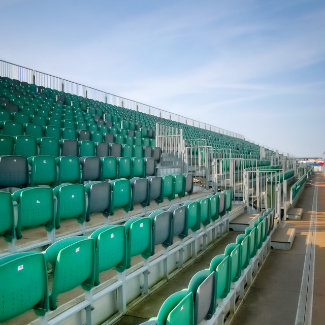 """grandstand seats"" stock image"
