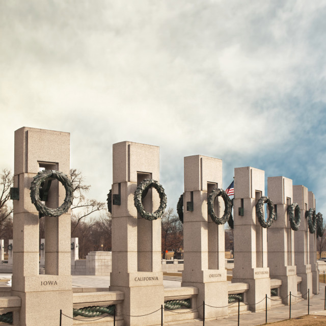 """National World War II Memorial"" stock image"