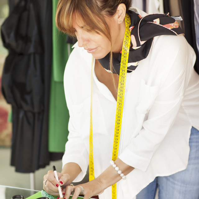 """Female tailor"" stock image"