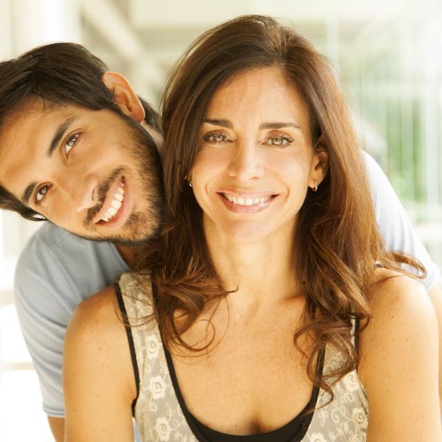 """Happy adult couple"" stock image"