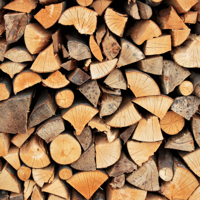 """Stack of firewood"" stock image"