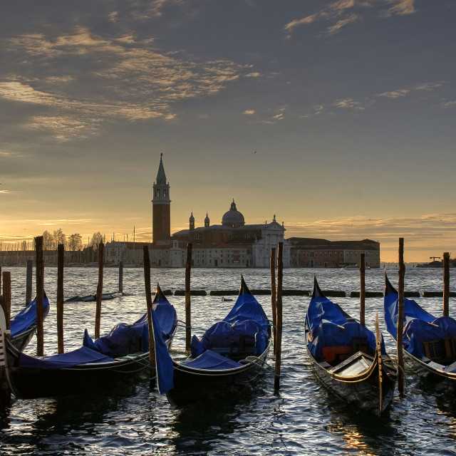 """Sunrise from St. Mark's Square in Venice"" stock image"