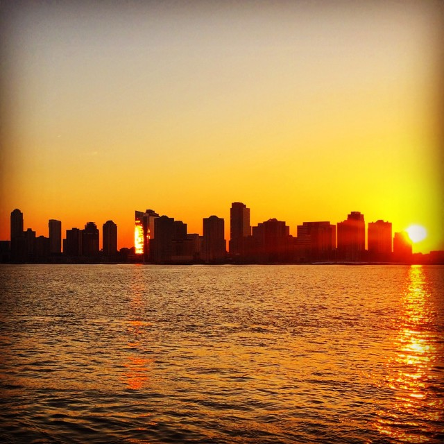 """Sunset over New Jersey"" stock image"