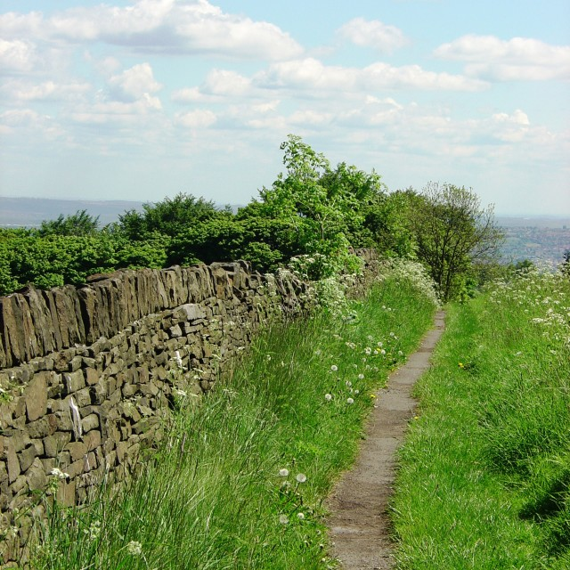 """A Peak District path"" stock image"