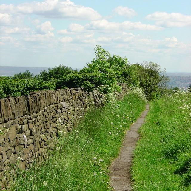 """A Peak District path"" stock image"