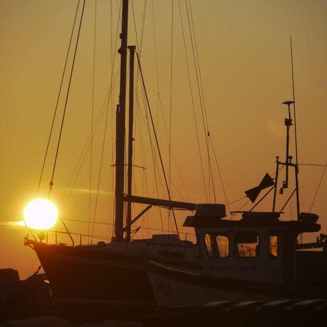 """Sun over Sail"" stock image"