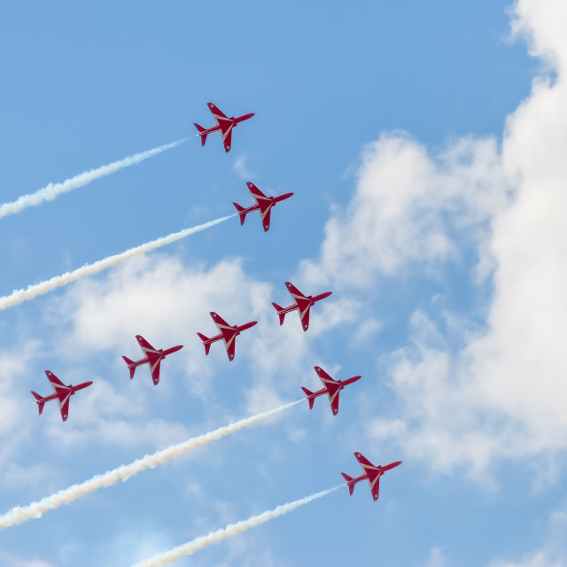 """red arrows formation"" stock image"