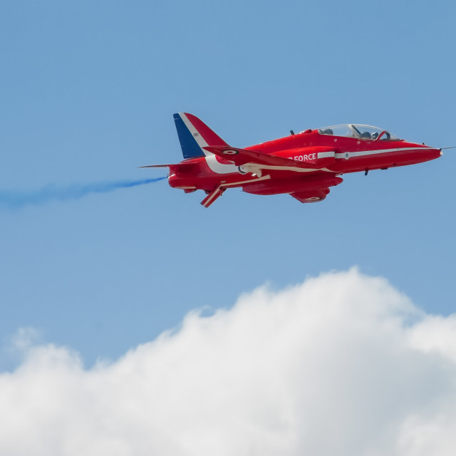 """red arrows jet closeup"" stock image"