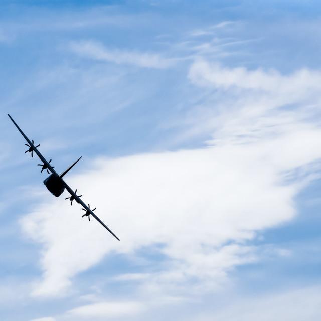 """cargo plane silhouette"" stock image"
