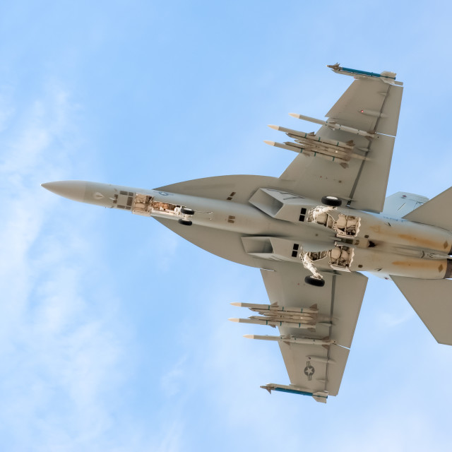 """US Navy F-18 Super Hornet"" stock image"