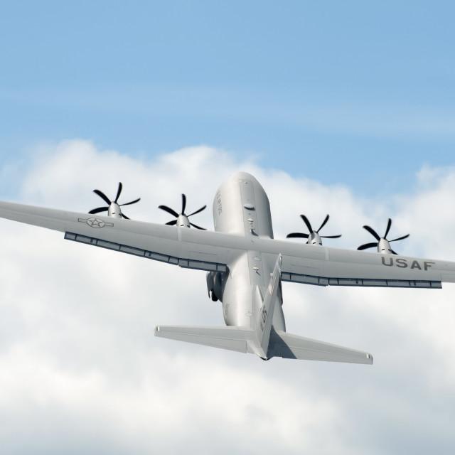 """""""Hercules C-130J take-off"""" stock image"""