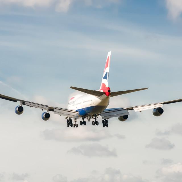 """British Airways Boeing 747"" stock image"
