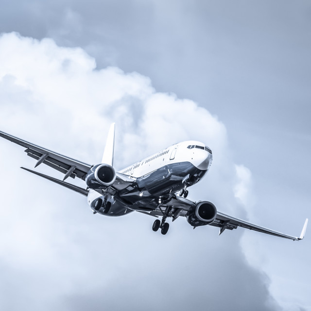 """passenger jet abstract"" stock image"
