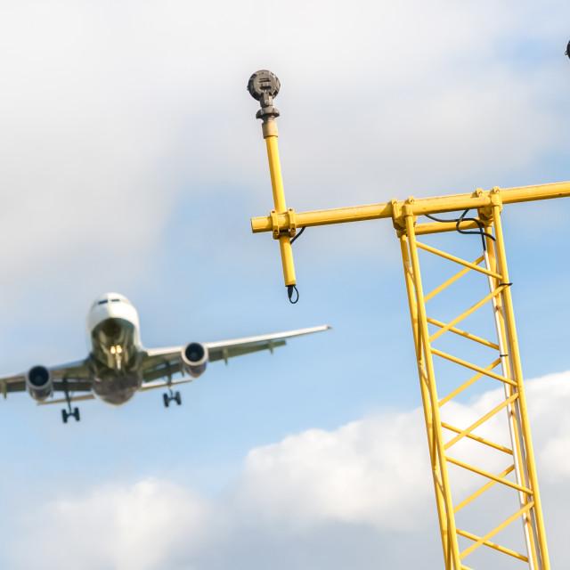 """landing approach"" stock image"