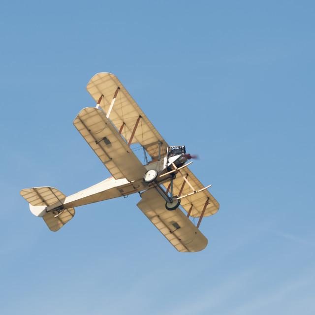 """vintage biplane"" stock image"