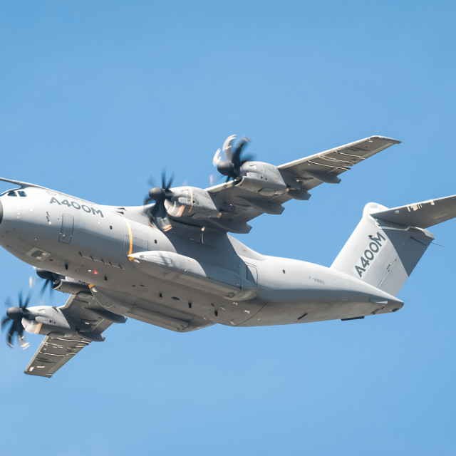 """Airbus A400M transporter"" stock image"