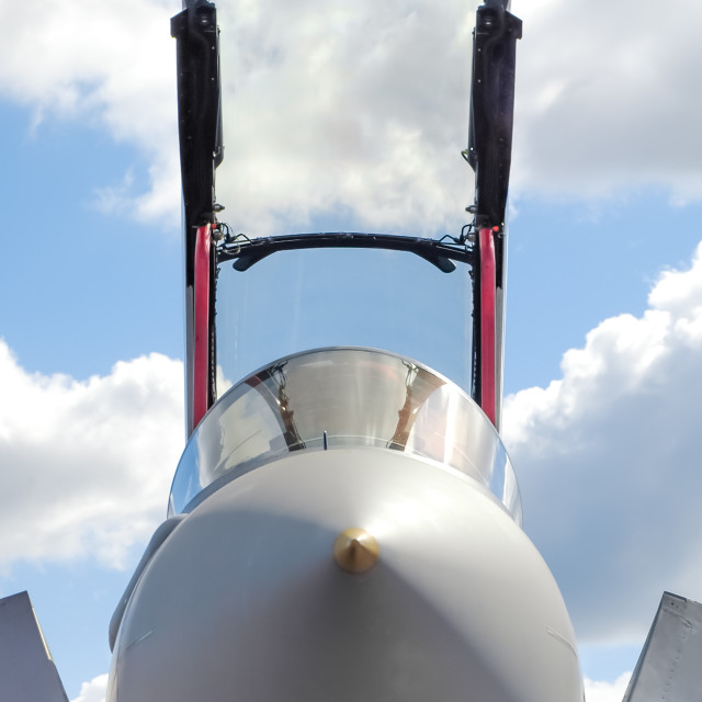 """jet fighter canopy"" stock image"