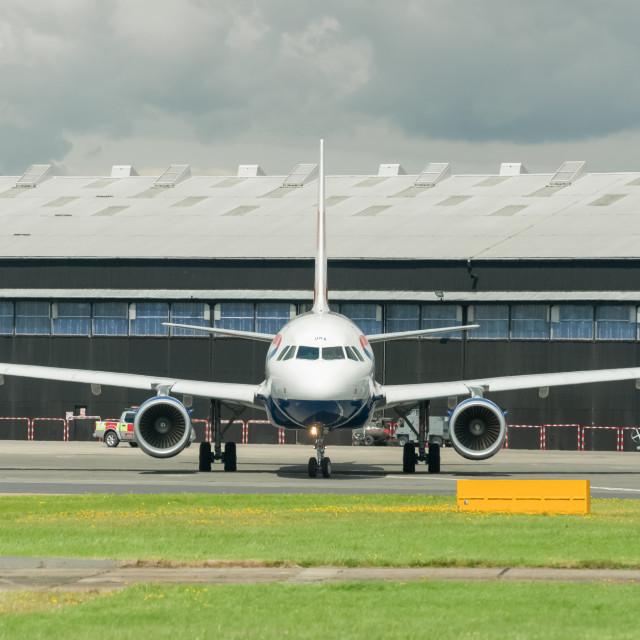"""British Airways A318"" stock image"