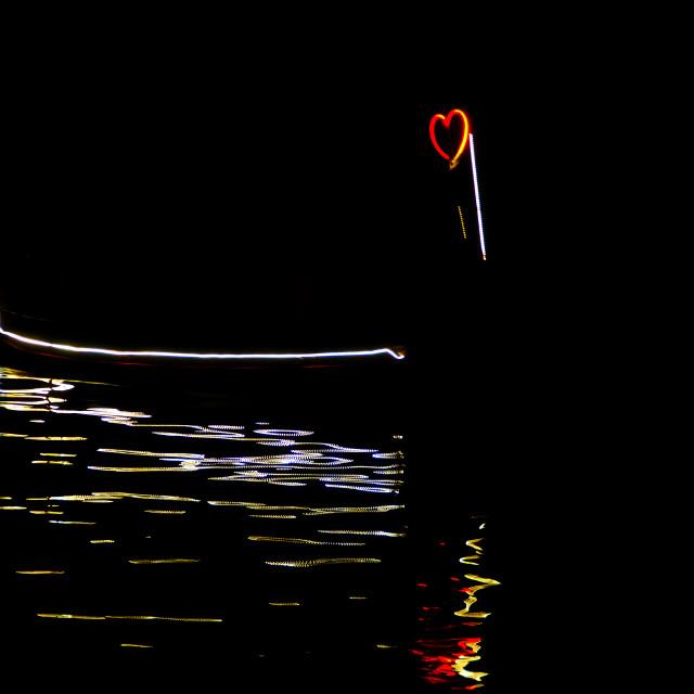 """Floating heart"" stock image"