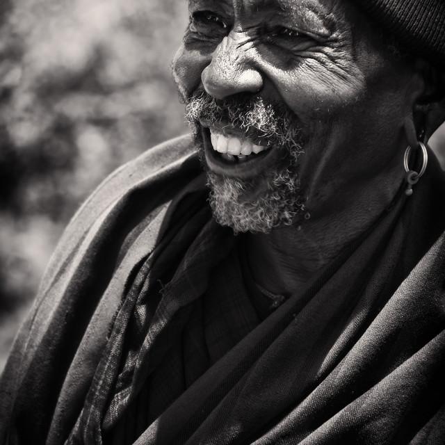 """""""Maasai Elder"""" stock image"""