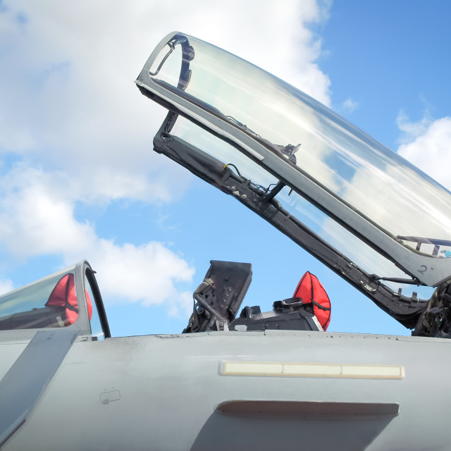 """""""ejector seat canopy"""" stock image"""