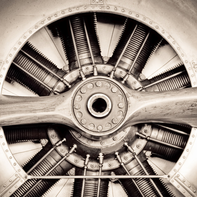 """antique aircraft engine"" stock image"