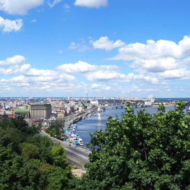 """Dnipro River"" stock image"