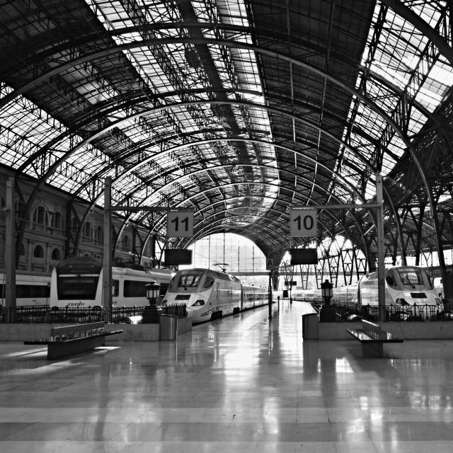 """Barcelona Train Station"" stock image"