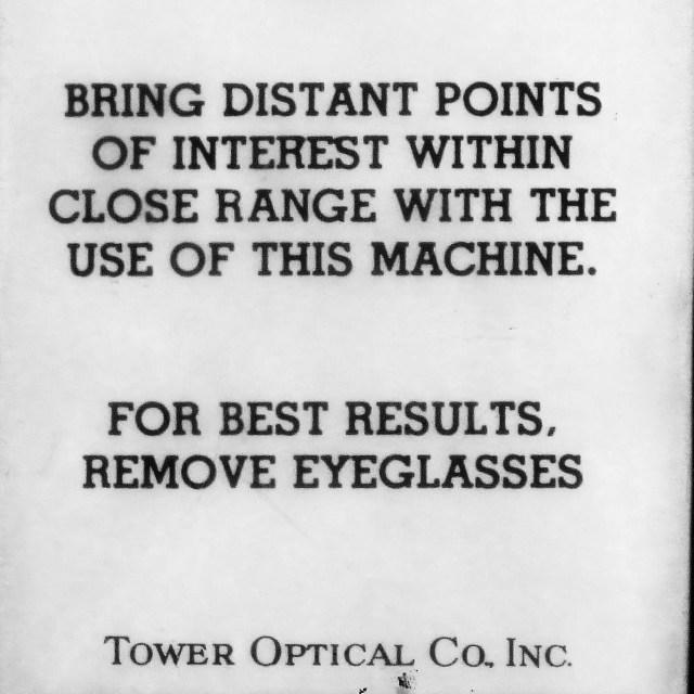 """Viewing Binocular Instructions"" stock image"