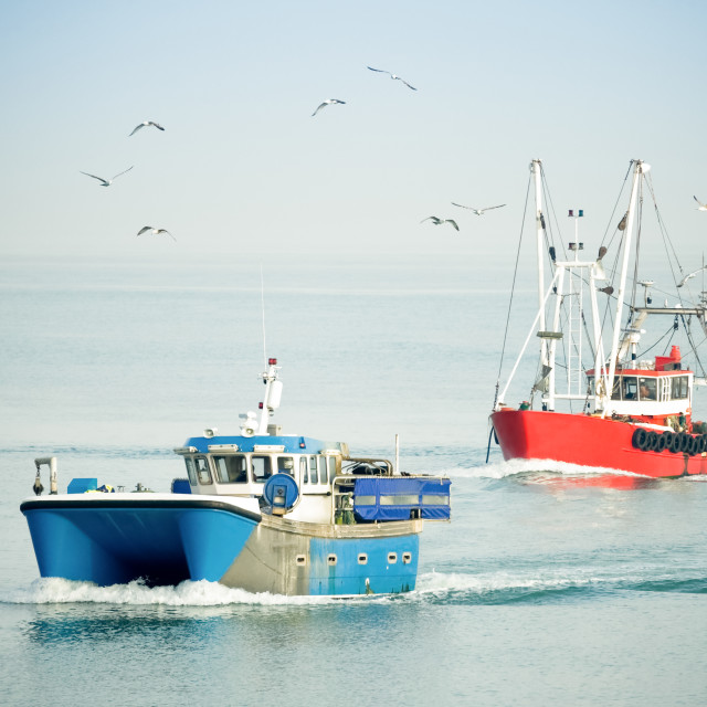 """fishing trawlers"" stock image"