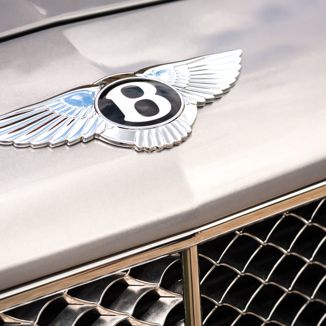 """Bentley badge"" stock image"
