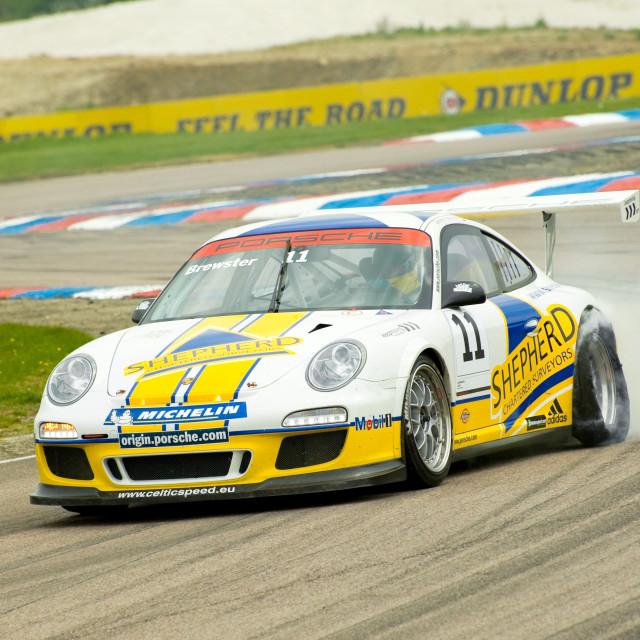 """Porsche puncture"" stock image"