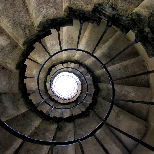"""Old spiral staircase"" stock image"