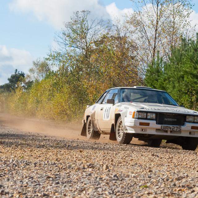 """""""Nissan 240RS rally car"""" stock image"""