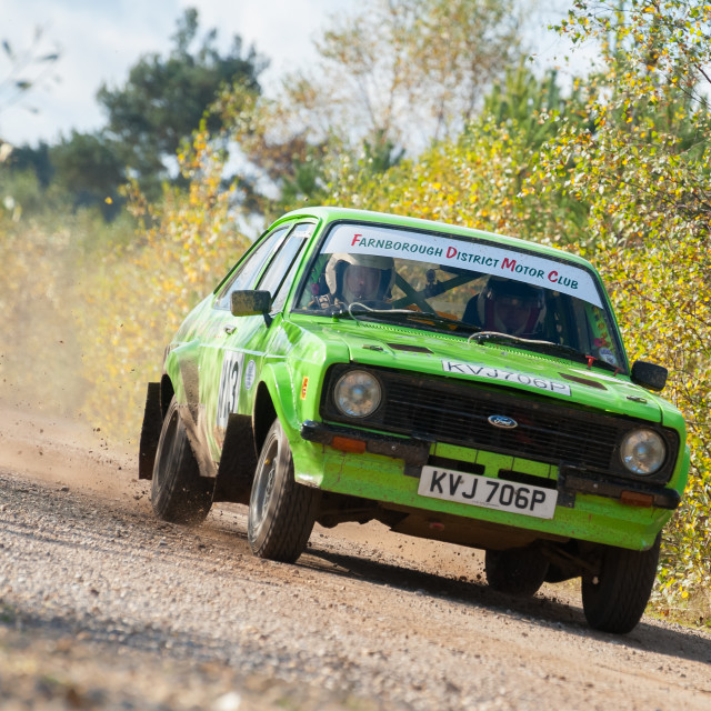 """""""Ford Escort rally car"""" stock image"""