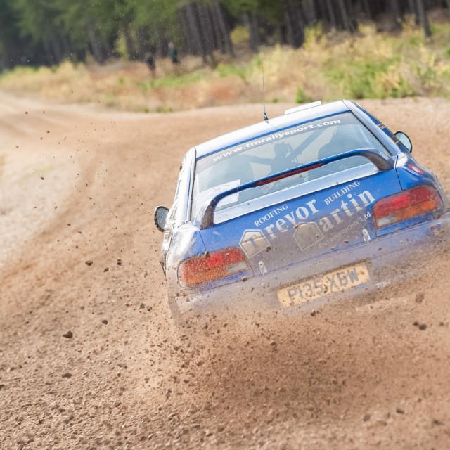 """""""Subaru rally car"""" stock image"""