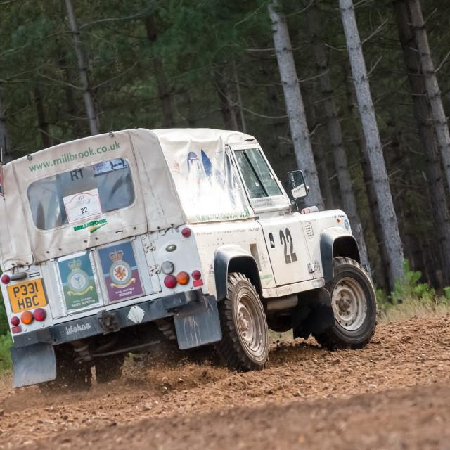 """Land Rover rally car"" stock image"