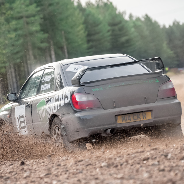 """Rally over-steer"" stock image"